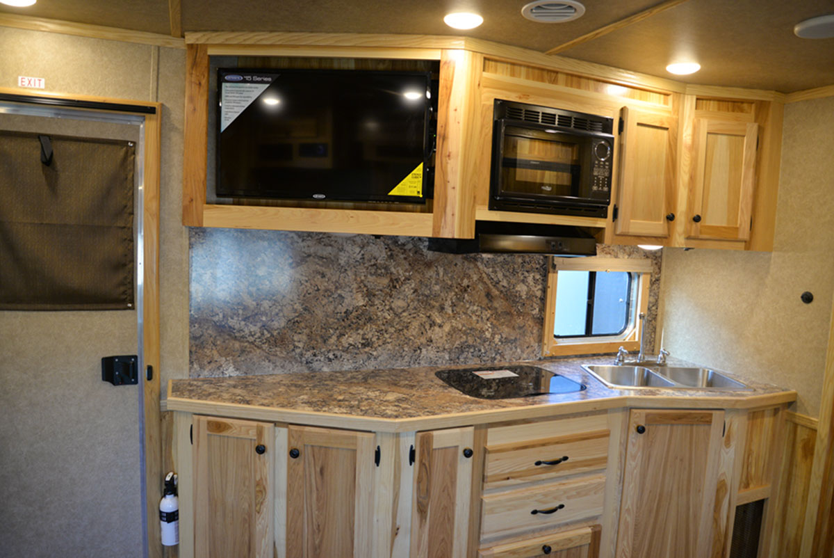 Kitchen in a LE8X15 - Charger Livestock Edition Trailer  Lakota Trailers