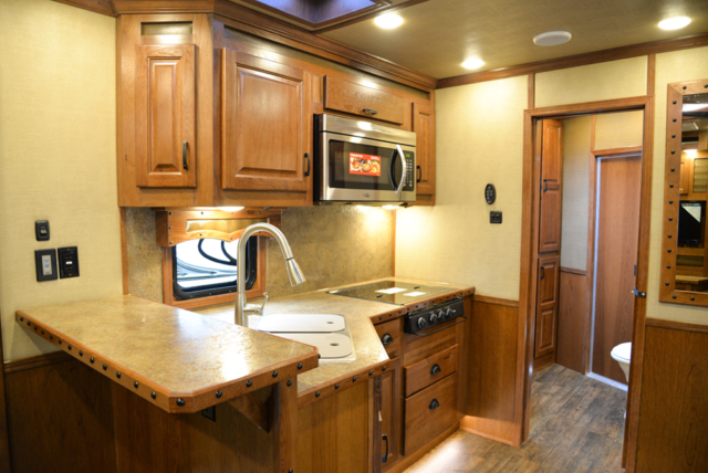 Kitchen in a Bighorn Edition BH8X14CE (Handwiped) | Lakota Trailers