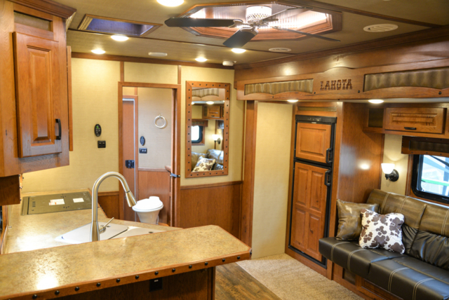 Living Quarters in a Bighorn Edition BH8X14CE (Handwiped) | Lakota Trailers