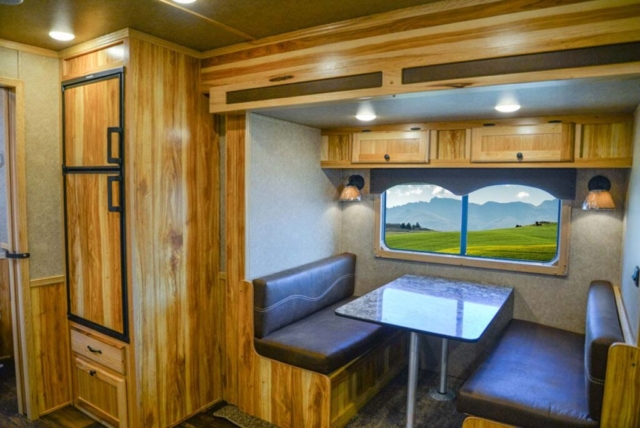 Dinette in LE8X15 Charger Edition Livestock Trailer   Lakota Trailers