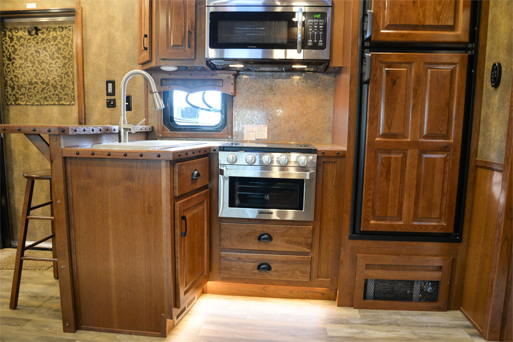Kitchen in a BLE8X15CE Bighorn Edition Livestock Trailer| Lakota Trailers