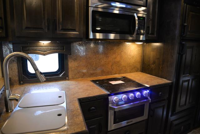 Kitchen in a 2020 BH8X18TCE Bighorn Horse Trailer   Lakota Trailers