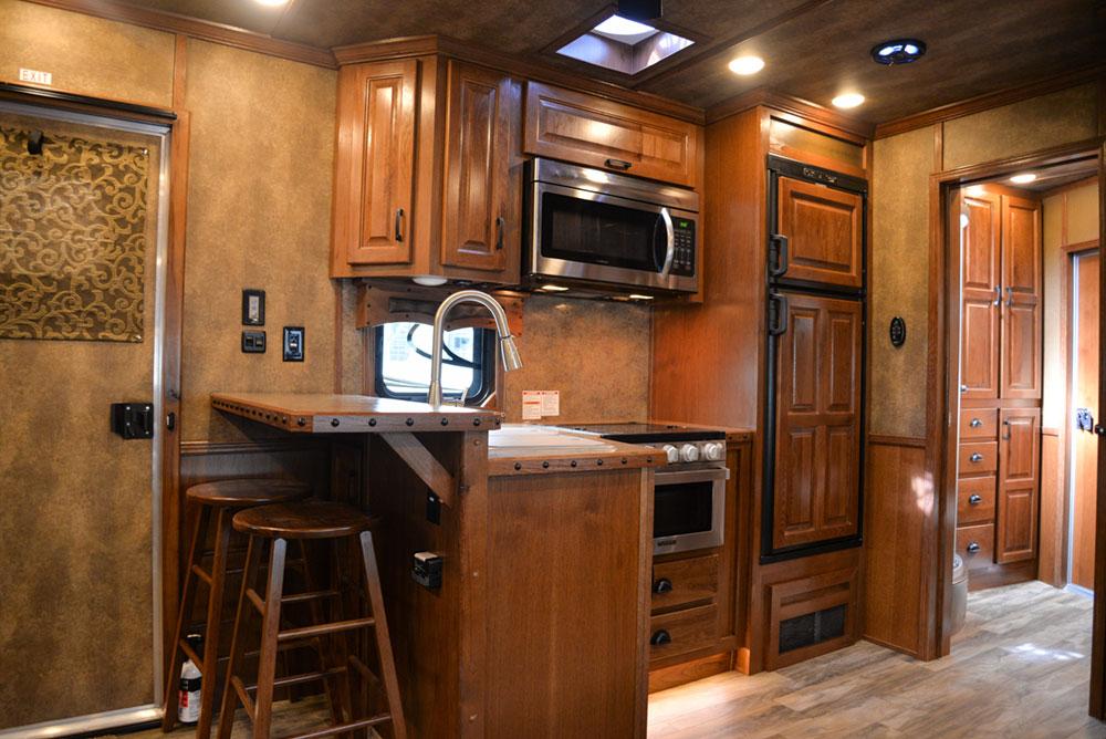 Kitchen in a BLE8X15CE Bighorn Edition Livestock Trailer| Lakota Trailers