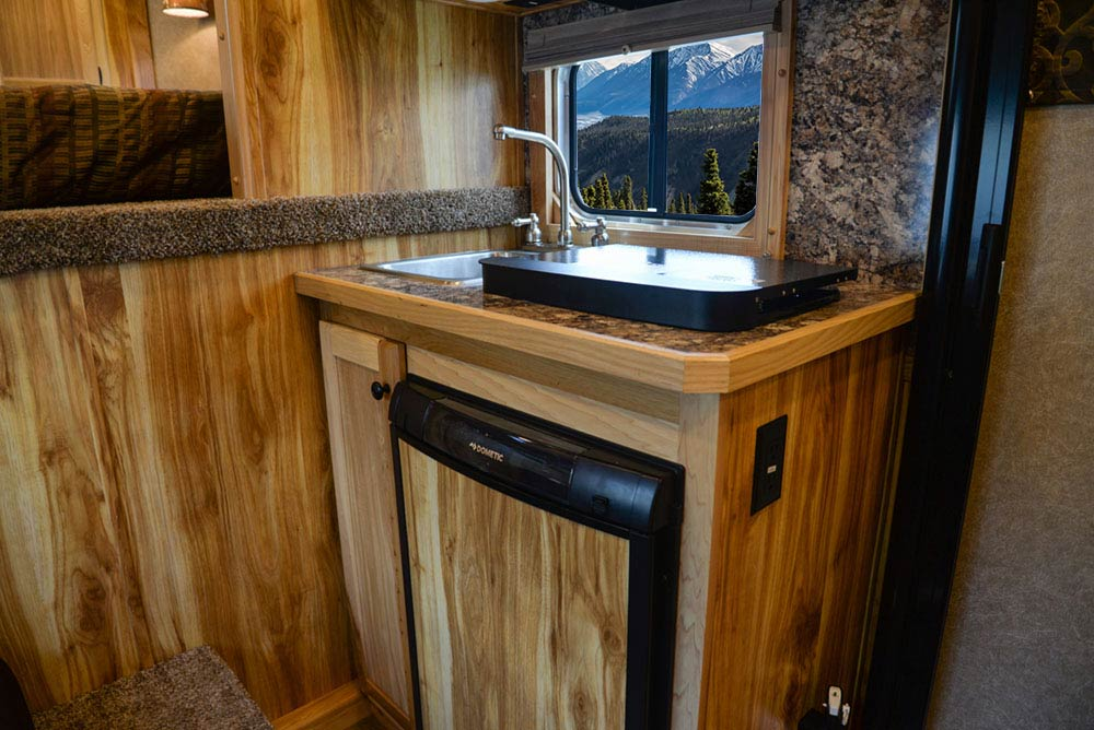Kitchenette in CX7 Charger Edition Horse Trailer   Lakota Trailers