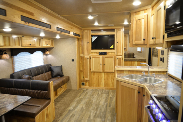 Living Quarters in a C8X17EH Charger Edition Horse Trailer  Lakota Trailers