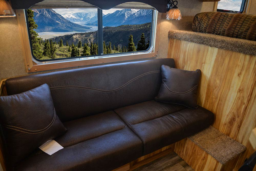 Sofa in CX7 Charger Edition Horse Trailer   Lakota Trailers