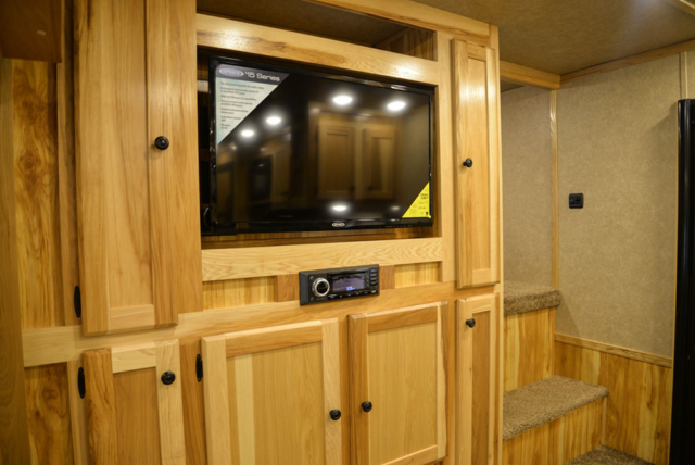 Center Entertainment System in a C8X17EH Charger Edition Horse Trailer  Lakota Trailers