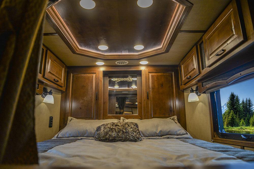 Bed in Gooseneck in BH8X16SR Bighorn Edition Horse Trailer | Lakota Trailers