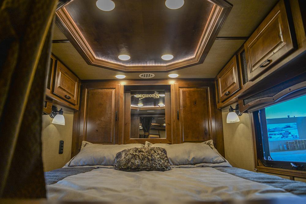 Bed in a Bighorn BH8X16SR | Lakota Trailers