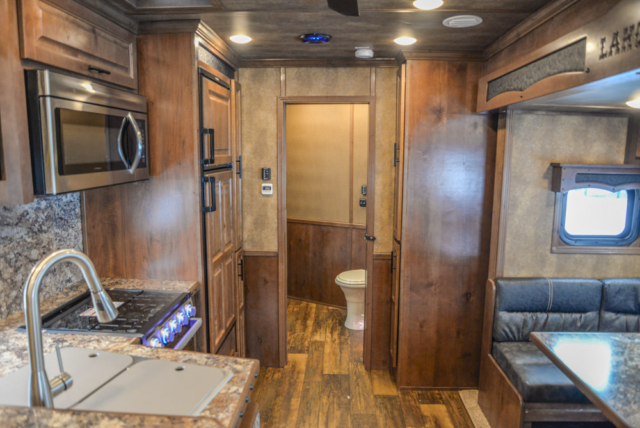 Living Quarters in BLE8X17SRB Bighorn Edition Livestock Trailer | Lakota Trailers