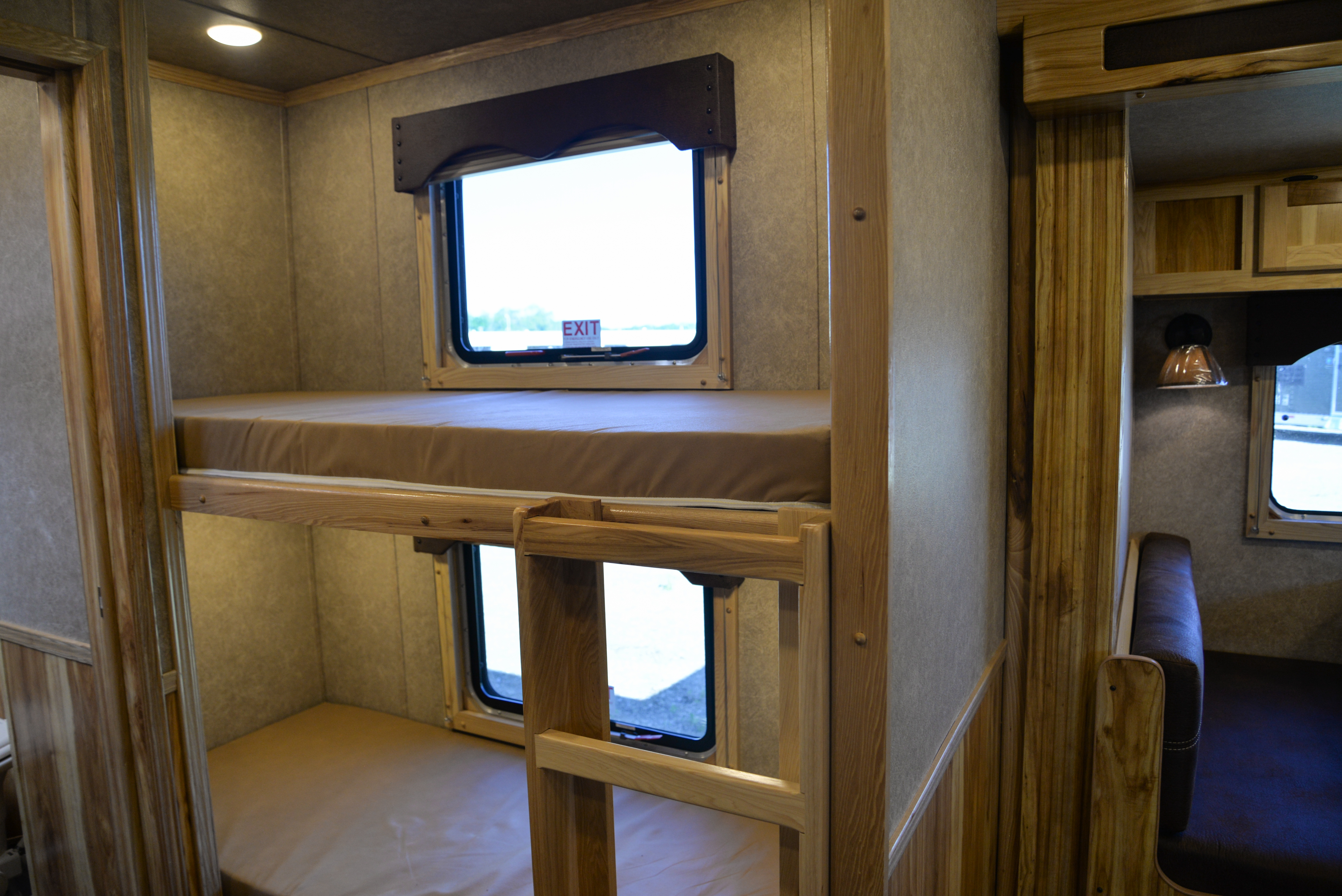 Bunk Beds in a Charger C8X16BB Horse Trailer | Lakota Trailers