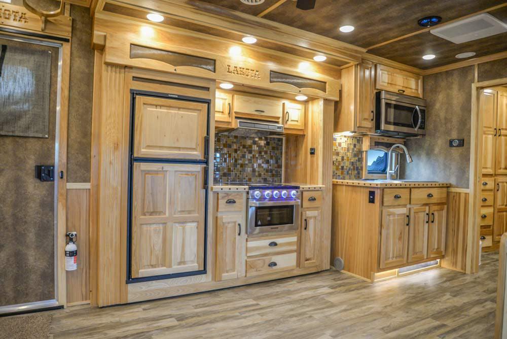Kitchen in BH8X192S Bighorn Edition Horse Trailer   Lakota Trailers