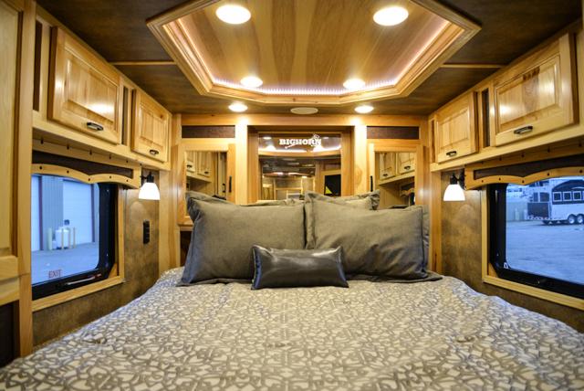 Bedroom in Bighorn BLE8X11RK Livestock Trailer | Lakota Trailers