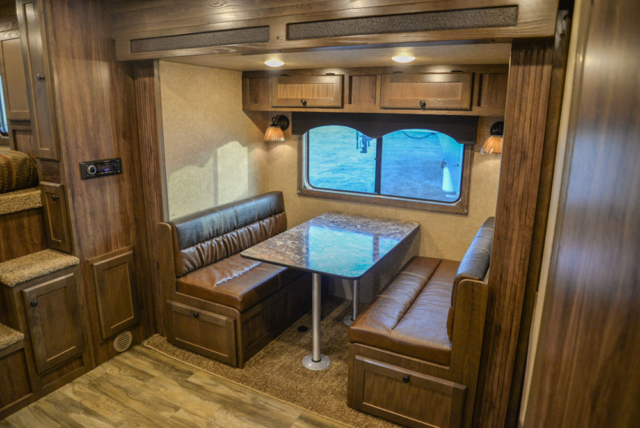 Dinette in a C8X18BB Charger Edition Horse Trailer | Lakota Trailers