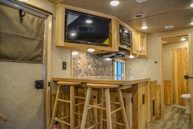 Bar Area in C8X15SRB9S Horse Trailer | Lakota Trailers