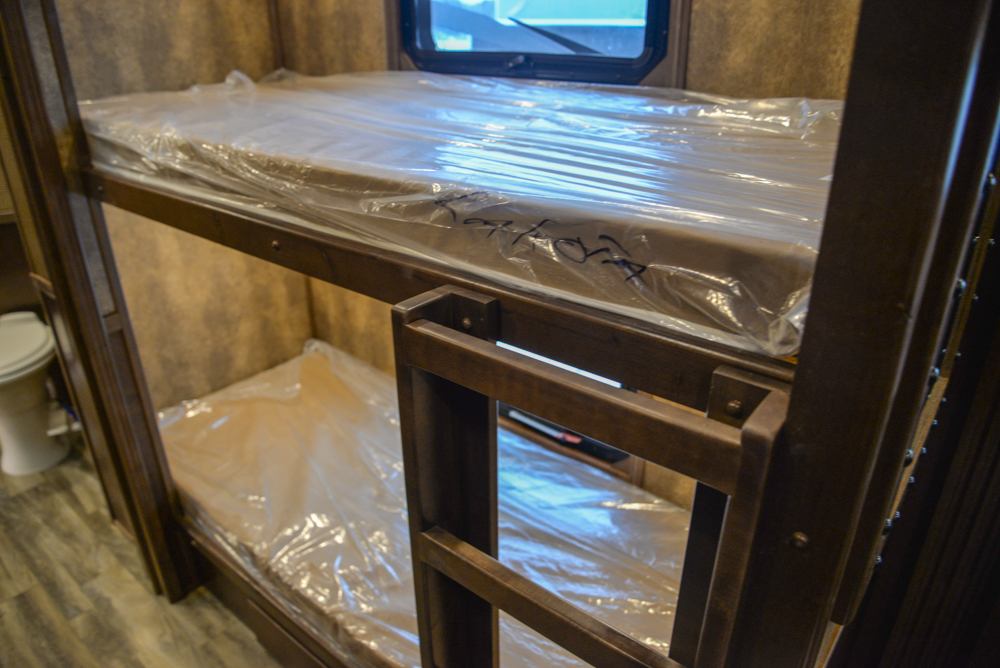Bunk Beds in a BH8X19BBSRB Bighorn Edition Horse Trailer | Lakota Trailers