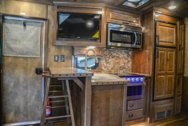 Kitchen in BH8X17SRB | Lakota Trailers