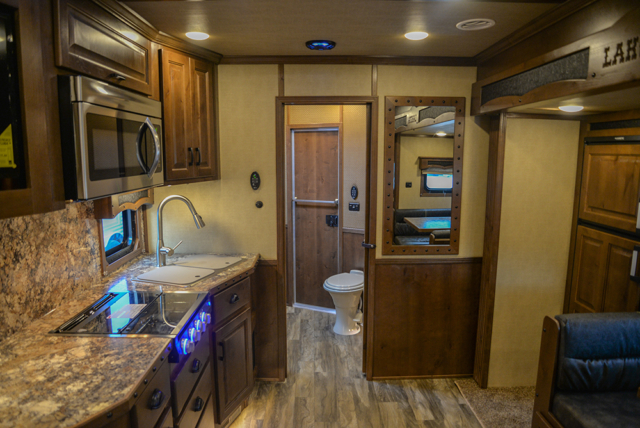 Living Quarters in a Bighorn BH8X16SR | Lakota Trailers