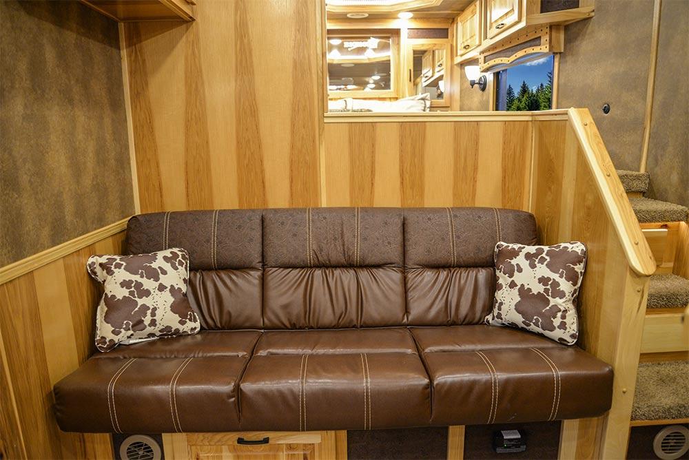 Sofa in BH8X17BSB Bighorn Edition Horse Trailer   Lakota Trailers