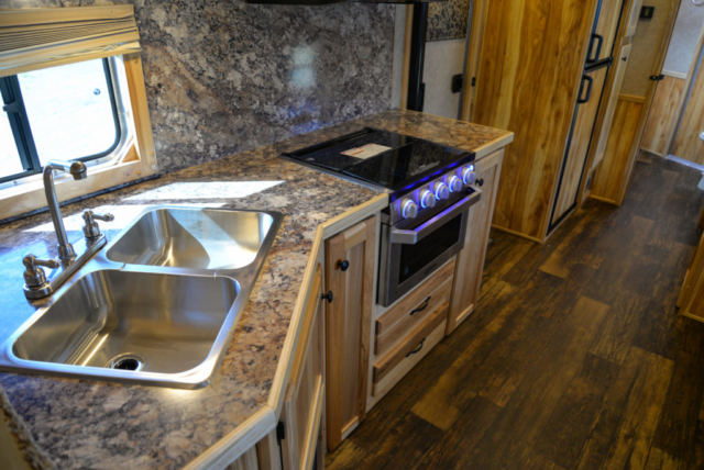 Kitchen in a Charger C8X16BB Horse Trailer | Lakota Trailers