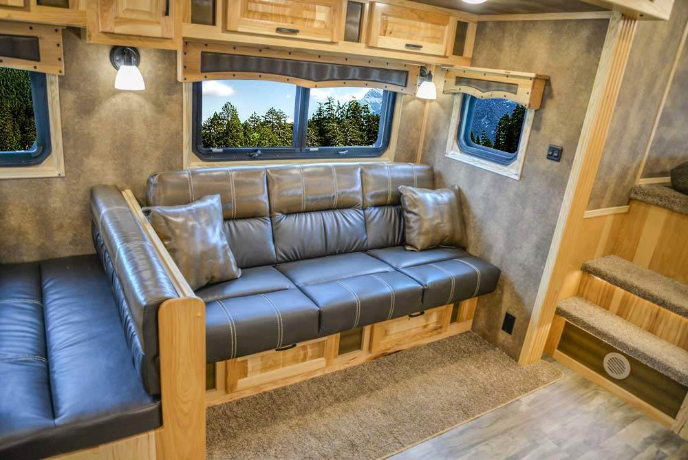 Sofa in BH8X192S Bighorn Edition Horse Trailer   Lakota Trailers