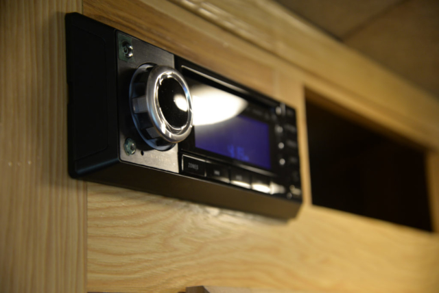 Stereo in a Charger C8X16BB Horse Trailer | Lakota Trailers