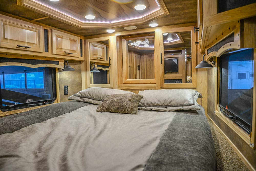 Bed in Gooseneck of BH8X192SI Bighorn Edition Horse Trailer | Lakota Trailers