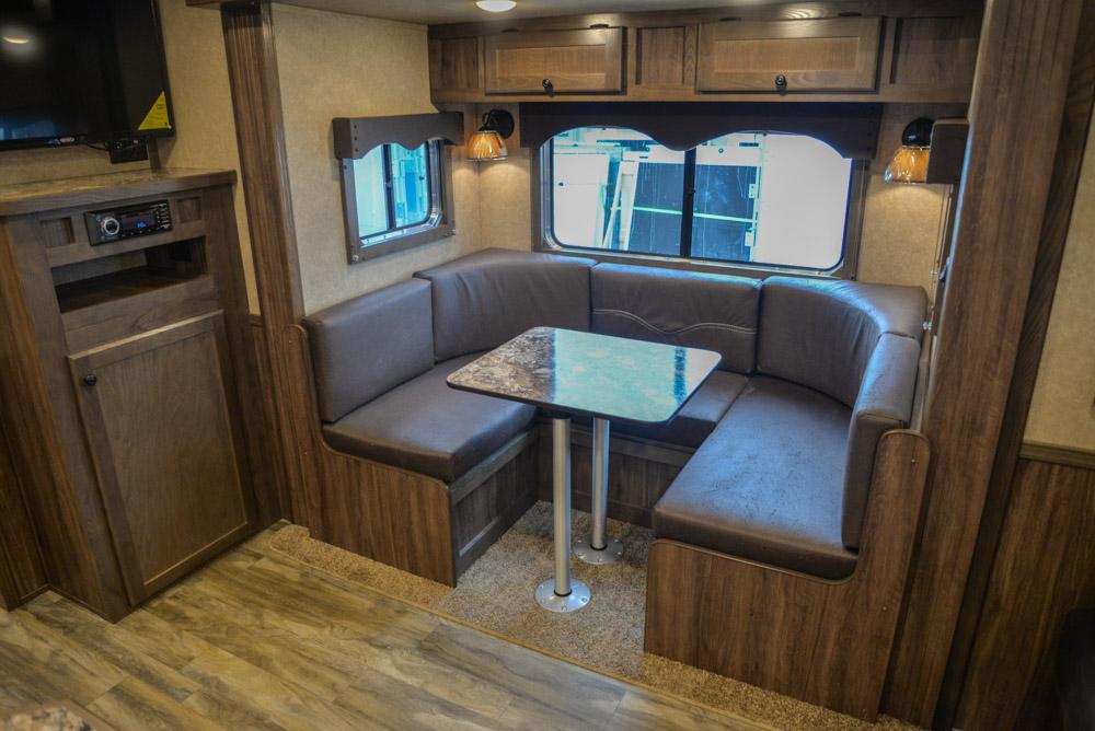 Optional U-Shaped Dinette in C8X13SR | Lakota Trailers
