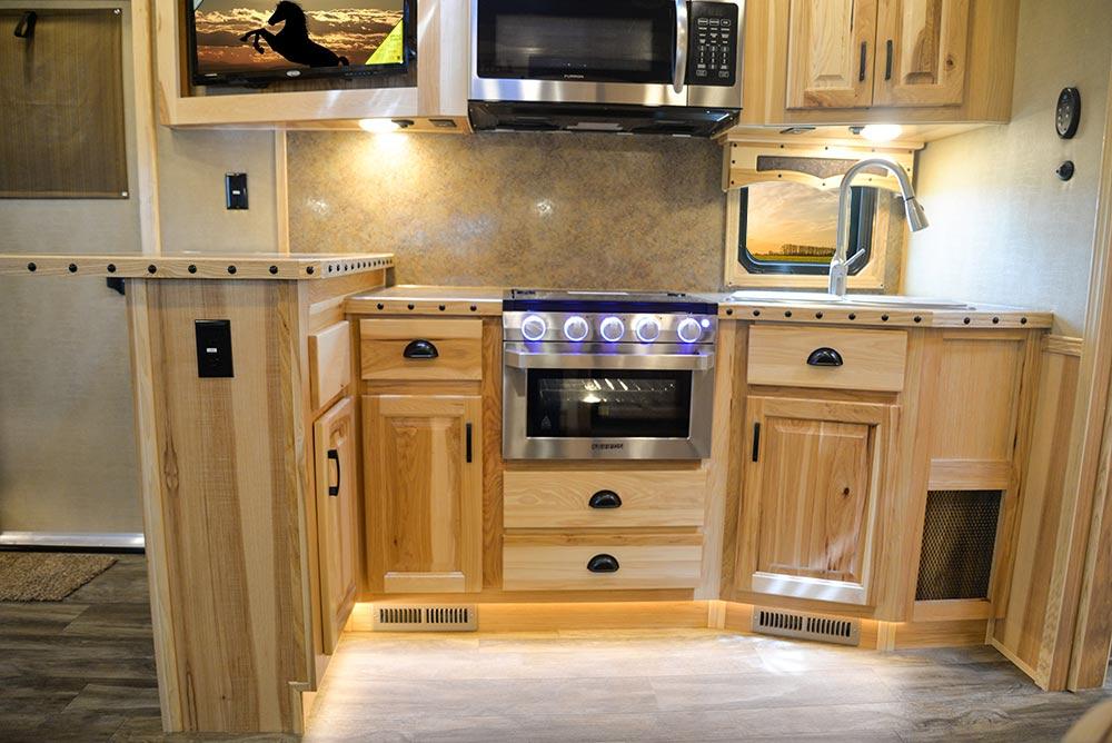 Kitchen in BH8X16SRB Bighorn Edition Horse Trailer   Lakota Trailers