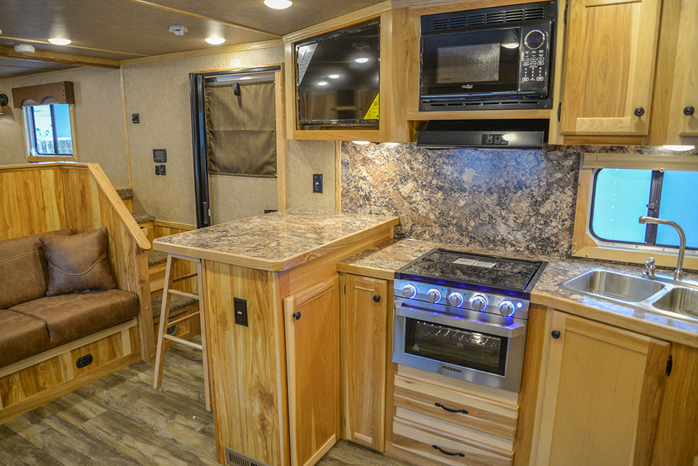 Kitchen in C8X15SRB9S Horse Trailer | Lakota Trailers