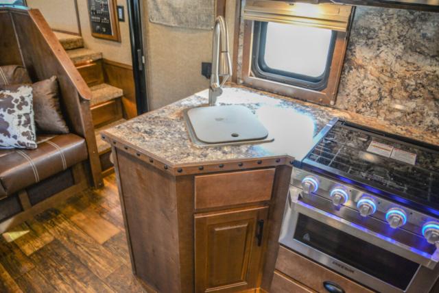 Kitchen in BH8X13SR | Lakota Trailers
