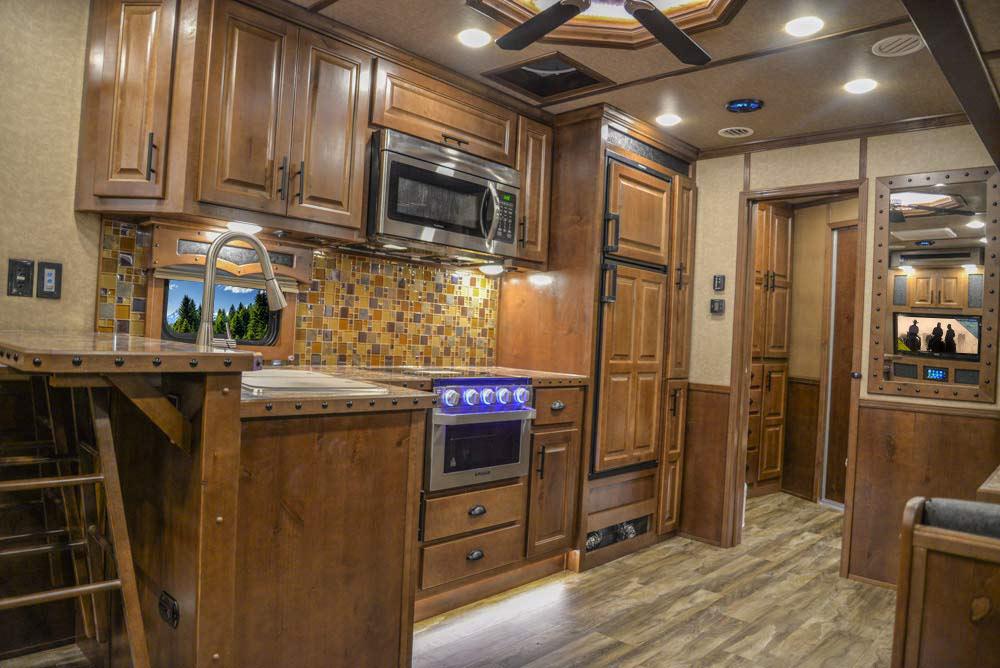 Kitchen in BH8X18CE Bighorn Edition Horse Trailer | Lakota Trailers