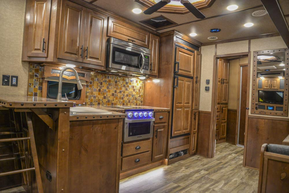 Kitchen in BH8X18CE | Lakota Trailers