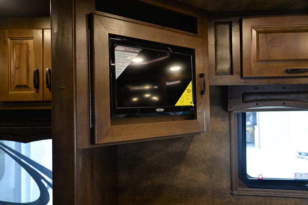 Bedroom TV In Bighorn Edition BH8X16SRB   Lakota Trailers