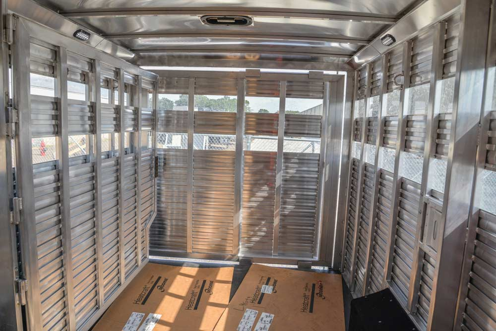 Livestock Area in a LE8X16BB Charger Edition Livestock Trailer | Lakota Trailers