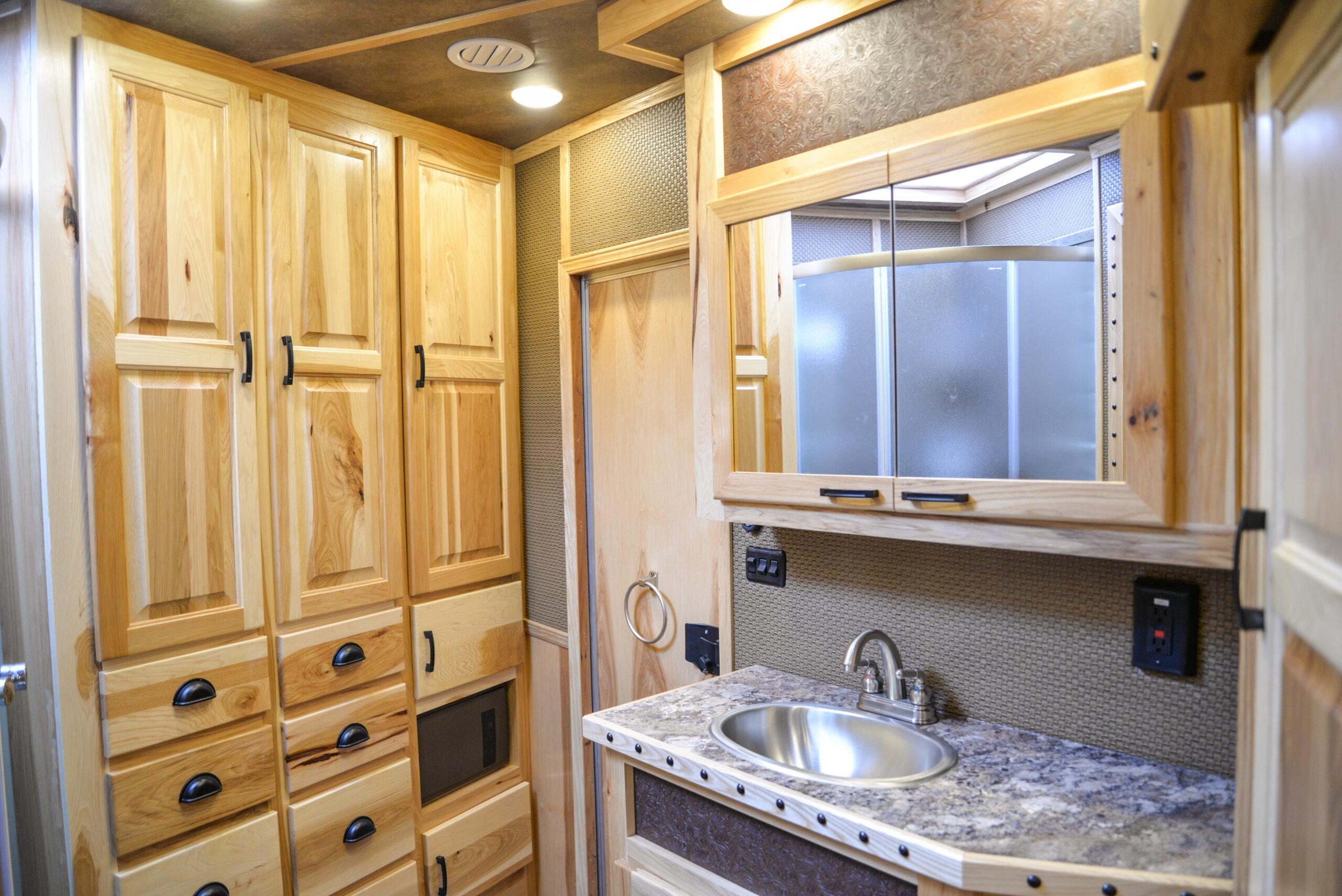 Bathroom in BH8X17BSB Bighorn Edition Horse Trailer   Lakota Trailers