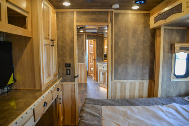 Second Bedroom in a BH8X23T2S Bighorn Edition Horse Trailer | Lakota Trailers