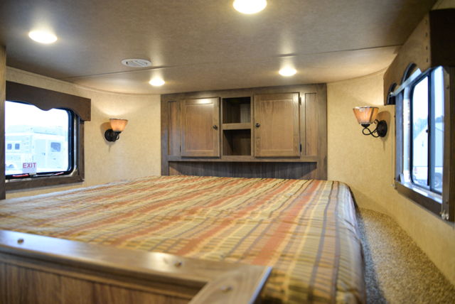 Bedroom in Charger C8X14LSR Horse Trailer | Lakota Trailers