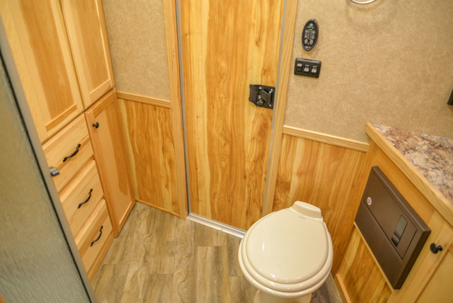 Bathroom in C8X15SRB9S Horse Trailer | Lakota Trailers