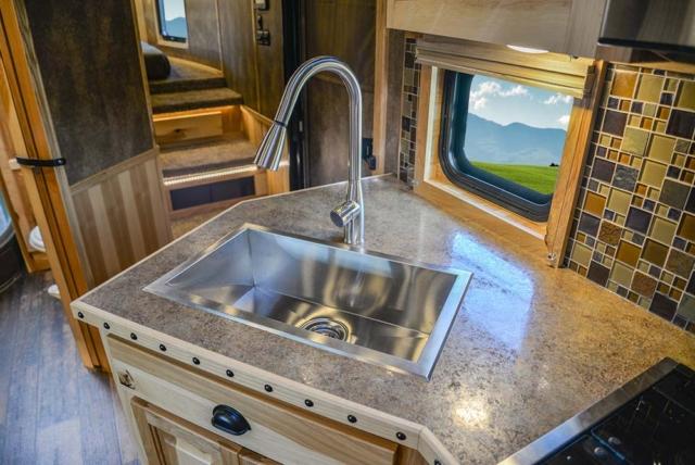 Sink in Kitchen in BH8X23T2S Bighorn Edition Horse Trailer | Lakota Trailers