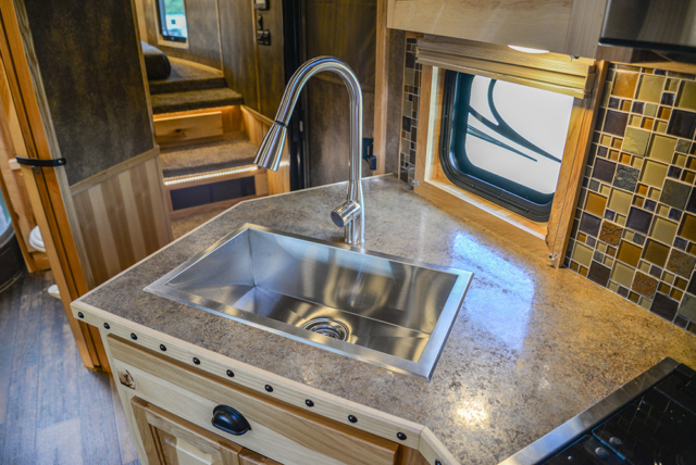 Kitchen Sink in a BH8X23T2S Bighorn Edition Horse Trailer | Lakota Trailers