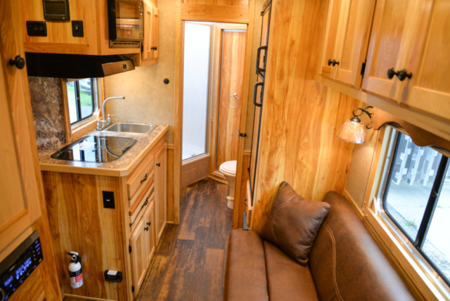Living Quarters in a CX9 Charger Edition Horse Trailer | Lakota Trailers