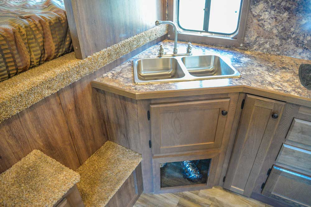 Kitchen Sink in a LE8X16BB Charger Edition Livestock Trailer | Lakota Trailers