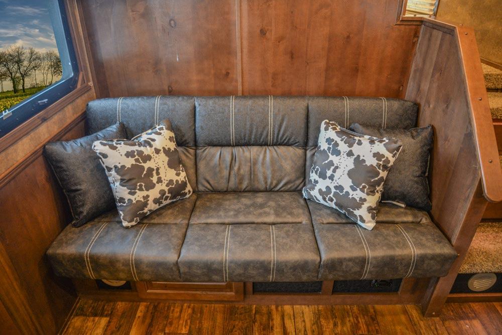 Sofa in BLE8X17SRB Bighorn Edition Livestock Trailer | Lakota Trailers