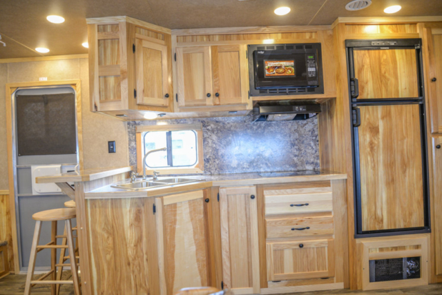 Kitchen in Charger C8X18CE Horse Trailer | Lakota Trailers