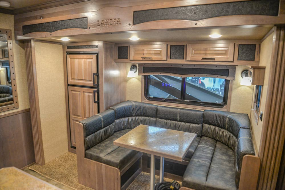 Living Quarters in a BH8X19TBB Bighorn Edition Horse Trailer | Lakota Trailers