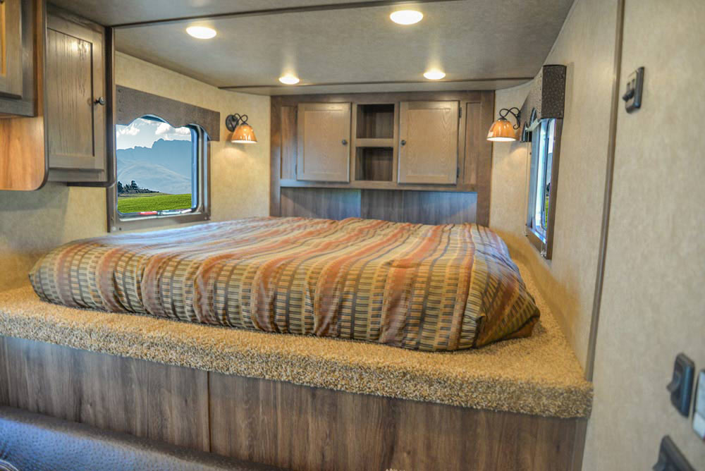 Bed in CX9SR Charger Edition Horse Trailer | Lakota Trailers