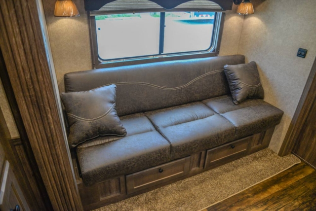 Sofa in CX11 Charger Edition Horse Trailer | Lakota Trailers