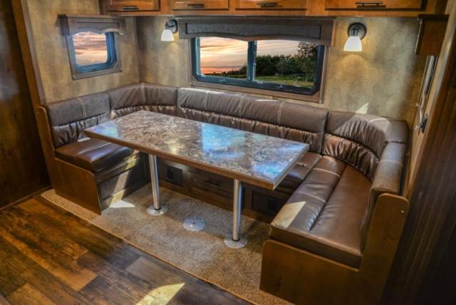 Slide-Out in BH8X17SRB Bighorn Edition Horse Trailer | Lakota Trailers