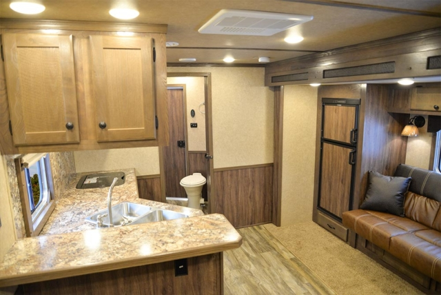 Living Quarters in C8X14CE Charger Edition Horse Trailer | Lakota Trailers